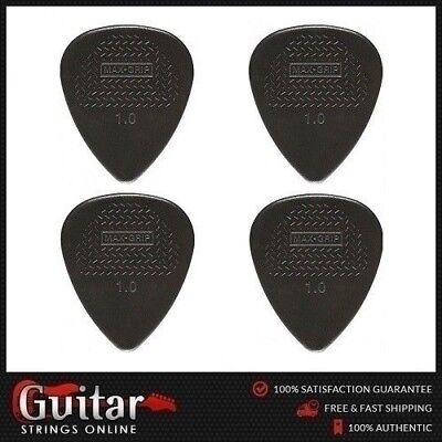 4 x Jim Dunlop Max Grip Nylon Standard 1.0mm Guitar Picks Plectrums New