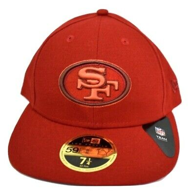 New Era 59Fifty Mens NFL San Francisco 49ers Low Profile Fitted Hat Cap New 7447ab9401b