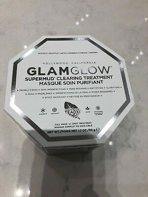 GlamGlow SuperMud CLearing Treatment Masque Mask 1.7oz