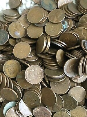 Bulk Wheet Pennies 1940 - 1958 From The USA 1kg (just over 2 lb)