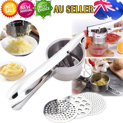 Stainless Steel Vegetable Potato Masher Mincer Ricer Fruit Juicer Press Squeeze