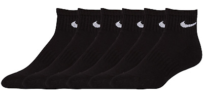 NIKE Performance Cotton Cushioned Quarter Socks Men's sz L Large (8-12) 6 Pairs