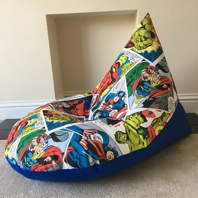 NEW DESIGN Adult Large Chair Beanbag Super Hero Marvel Avengers Made To Order & MARVEL AVENGERS BEAN Bag Official Merchandise Marvel Avengers u0027Tech ...