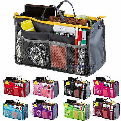 Women Travel Insert Makeup Handbag Organiser Purse Organizer Tidy Bag