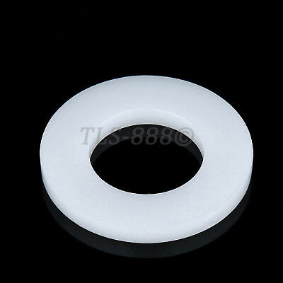M2 M3 M4 M5 M6 M8 M10 M12 M16 M20 White Nylon Plain Washers Fit Bolts & Screws
