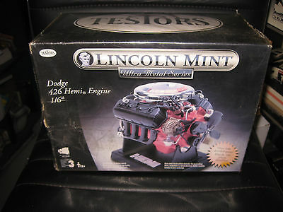 1/6 Scale Testors Lincoln Mint  Dodge Hemi 426 Engine Motor Model Kit  Rare