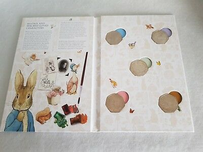 2016 Beatrix Potter Jemima Puddle Duck, Peter Rabbit  Nutkin, 50p Coin Set Album