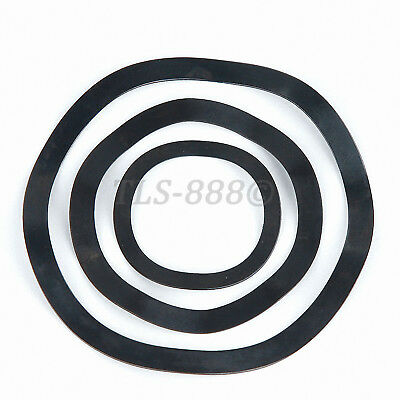 Black Zinc Plated Steel - Wave Wavy Spring Crinkle Washers Metric M3 to M118