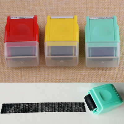 1.6CM SelfInking Stamp Guard Your ID Roller Stamp Office Messy Code Security