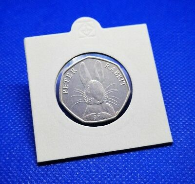 UNCIRCULATED - 2016 PETER RABBIT 50p COIN - REMOVED FROM SEALED BAG - ROYAL MINT