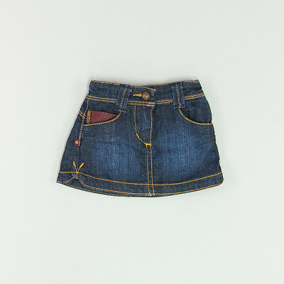 Falda color Denim oscuro marca DKNY 6 Meses  174509