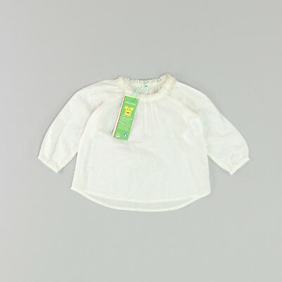 Blusa color Blanco marca Benetton 3 Meses  180591