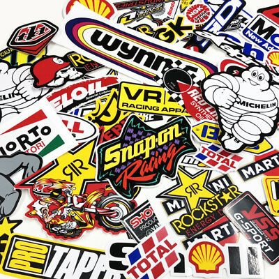 Random Stickers Motocross Car ATV Racing Bike Helmet Decal Motorcycle Truck