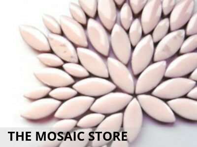 Soft Pink Ceramic Petals - Mosaic Art Craft Tiles Supplies