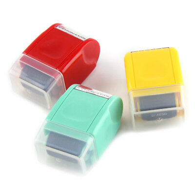 1Pcs Security Office Guard Your ID Roller Stamp SelfInking Stamp Messy Code