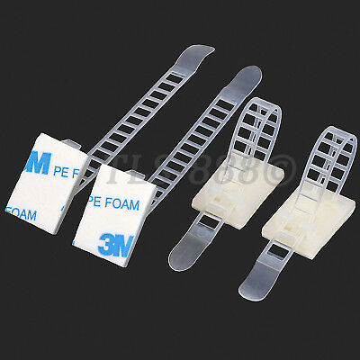 3M Self Adhesive Fixed Cable Zip Tie Mount Bases Seat for Cables & Wires