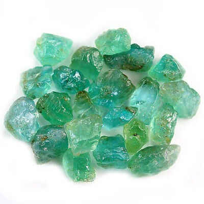 42.24 Ct.20 Pcs. Neon Blue Green Apatite Gemstone Rough Unheated Free Shipping!!