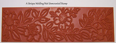 Mini Bold Abstract Design Polymer Clay Molding Mat Texture Rubber Stamp