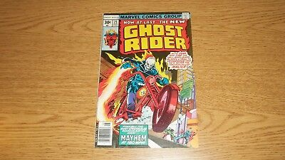 Ghost Rider Marvel Comics 1973 Series #25 Bronze Stunt Master