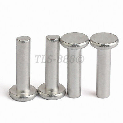 20pcs Tool Accessories M5-35//40//50 Aluminum Flat Head Solid Rivet Set Rivets M5 Aluminum Rivet 35 Flat Head Solid Rivet