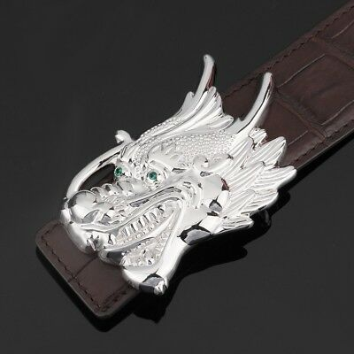 925 Sterling Silver dragon men's buckle buckles handmade (without belt) S2359