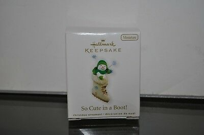 "Hallmark Miniature Ornament ""SO CUTE IN A BOOT"" 2010 NIB"