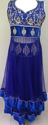 Stunning Asian Indian Pakistani Designer Wedding Party Lengha Outfit NEW XL
