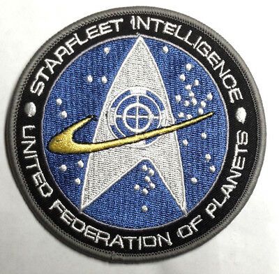 "STAR TREK Starfleet Intelligence Logo 4"" Embroidered Patch-Mailed USA(SFC-PA-06)"