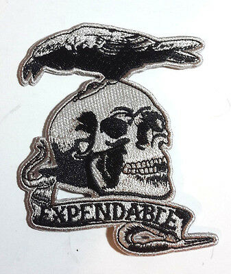 "Expendables Movie Skull & Bird Logo 4"" Embroidered Patch- USA Mailed (EXPA-01)"