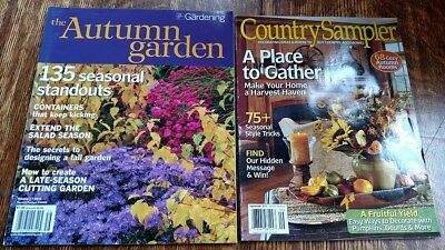 LOT of 2: Fine Gardening~The Autumn Garden & Country Sampler ~ Bulbs, Halloween