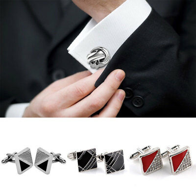 1 Pair Wedding Alloy Cuff Button Shirt Cufflinks Jewelry Men's Fashion Business