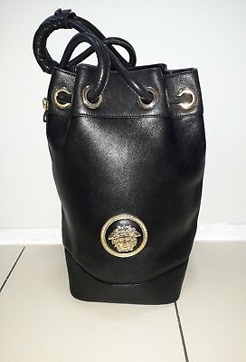 1e64ab4a22 100% Authentic Very Rare Large Gianni Versace 1992 Medusa Bucket Bag And  Dustbag