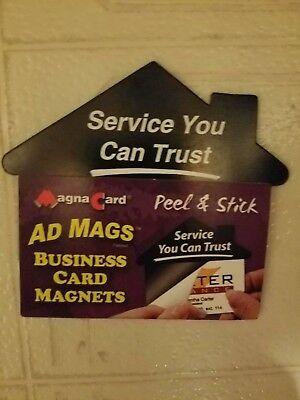 Magna Card Peel-and-Stick Business Card Advertising Magnets 6-25 Ct 150 Ct Total