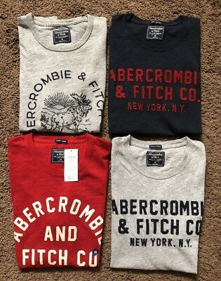 Mens Abercrombie Size Extra Small XS Lot Graphic T-shirts New NWT A&F