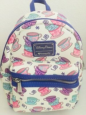 NEW Disney Parks Loungefly Mini Backpack Tea Cups from Alice in Wonderland  Bag 4061b2a74cf00