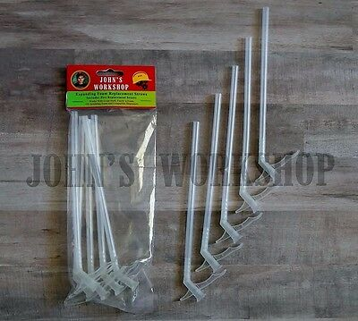 Five Expanding Insulation Sealant Straws - Great Stuff Foam Dispenser Nozzles
