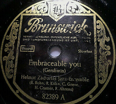"""HELMUT ZACHARIAS """"Embraceable you / Waht's the thing called love"""" Brunswick 1950"""