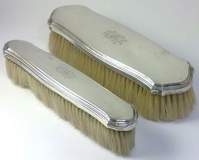 Pair of Antique German Silver Backed Grooming / Clothes Brushes – c 1920