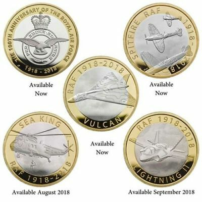 £2 RAF Coin Collection TWO POUNDS SEA KING, LIGHTNING II BRILLIANT UNCIRCULATED