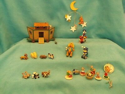Hallmark Merry Miniatures & Ornaments-Ark, Pooh, Sewing & More-Boxes