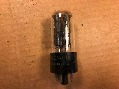 Vintage Sylvania 5Y3GT Rectifier Tube USA 1947 Black Plate tests perfect