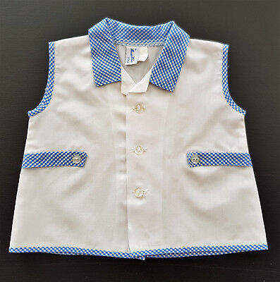 Vintage, Maud Wilson Baby Boy's Sleeveless Shirt ~  Reborn Dolls, Collectors