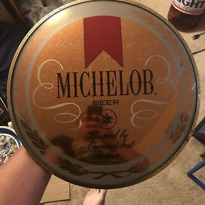 Michelob Beer Glass Convex Sign
