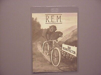 R.E.M. backstage pass laminated Reconstruction REM