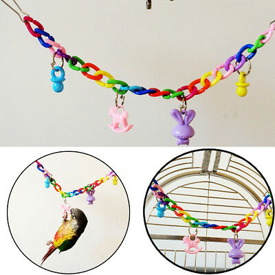 Colorful Swing Bird Toy Parrot Cage Toys For Parakeet Cockatiel Lovebird Budgie