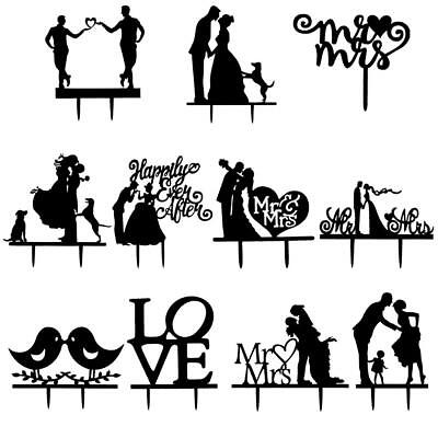 Wedding Cake Topper Romantic Bride and Groom Couple Stand Base Party Yw *w