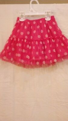 Jumping beans pink polka dots skirt with unde short.. size 6.