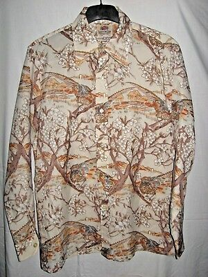 Vintage Fruit Of The Loom Golden Harvest Collection Long Sleeve Button Down