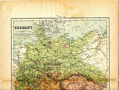 Map Of Germany 1870.1870 14 1 2 X 10 3 4 Inches Map Of Germany By Marcus Ward London