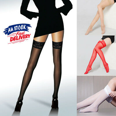 1/2 pairs Over Knee Thigh High Women Summer Sheer Lace Non-slip Long Stockings